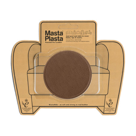 Leather Repair Patch | Large Plain Circle – 8cm x 8cm