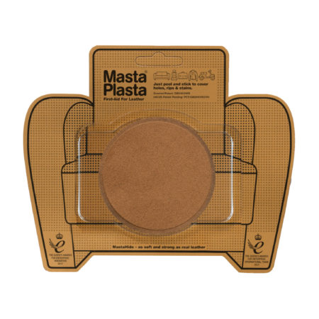 Suede Repair Patch | Large Plain Circle - 8cm x 8cm